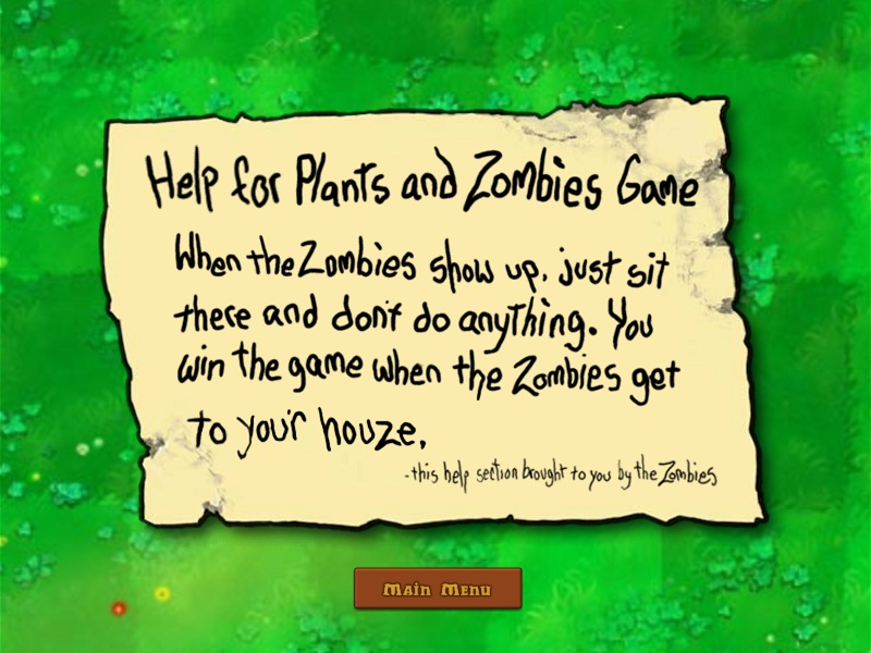 Plants vs Zombies 02 Note to Humans