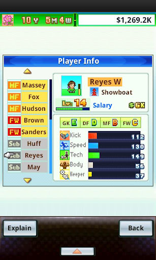 Pocket League Story Soccer Player Profile