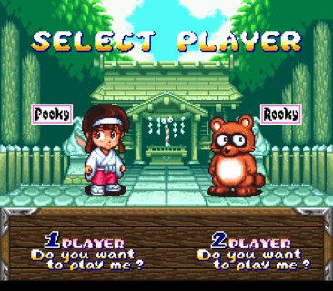Pocky And Rocky Player Select