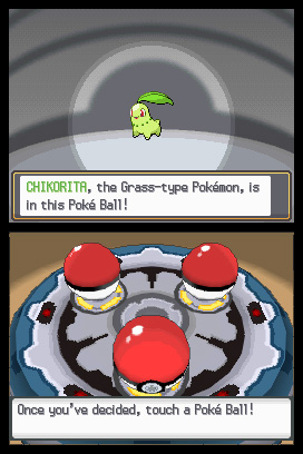 Pokemon Heartgold Soulsilver Pokeball Chikorita