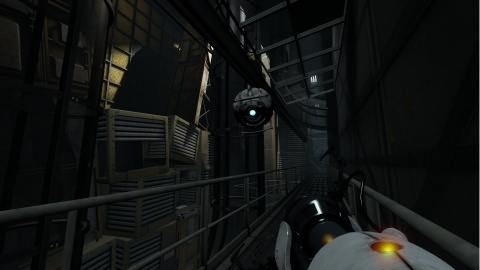 Portal 2 Wheatley Behind Test Chamber