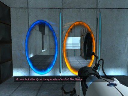 Portal Gun Blue Orange Portals