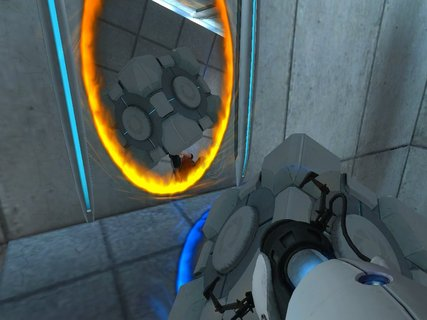 Portal Infinite Crates Blue Orange