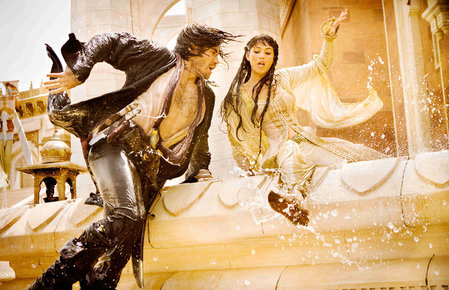 Prince of Persia Sands of Time Jake Gyllenhaal Gemma Arterton wet