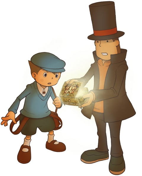 Professor Layton And The Diabolical Box Art