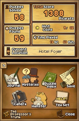 Professor Layton And The Diabolical Box Menu