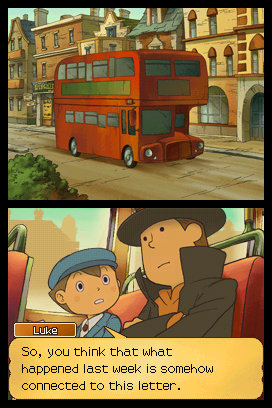 Professor Layton and the Unwound Future Luke bus