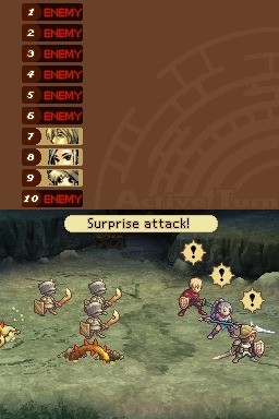 Radiant Historia Battle Suprise Attack