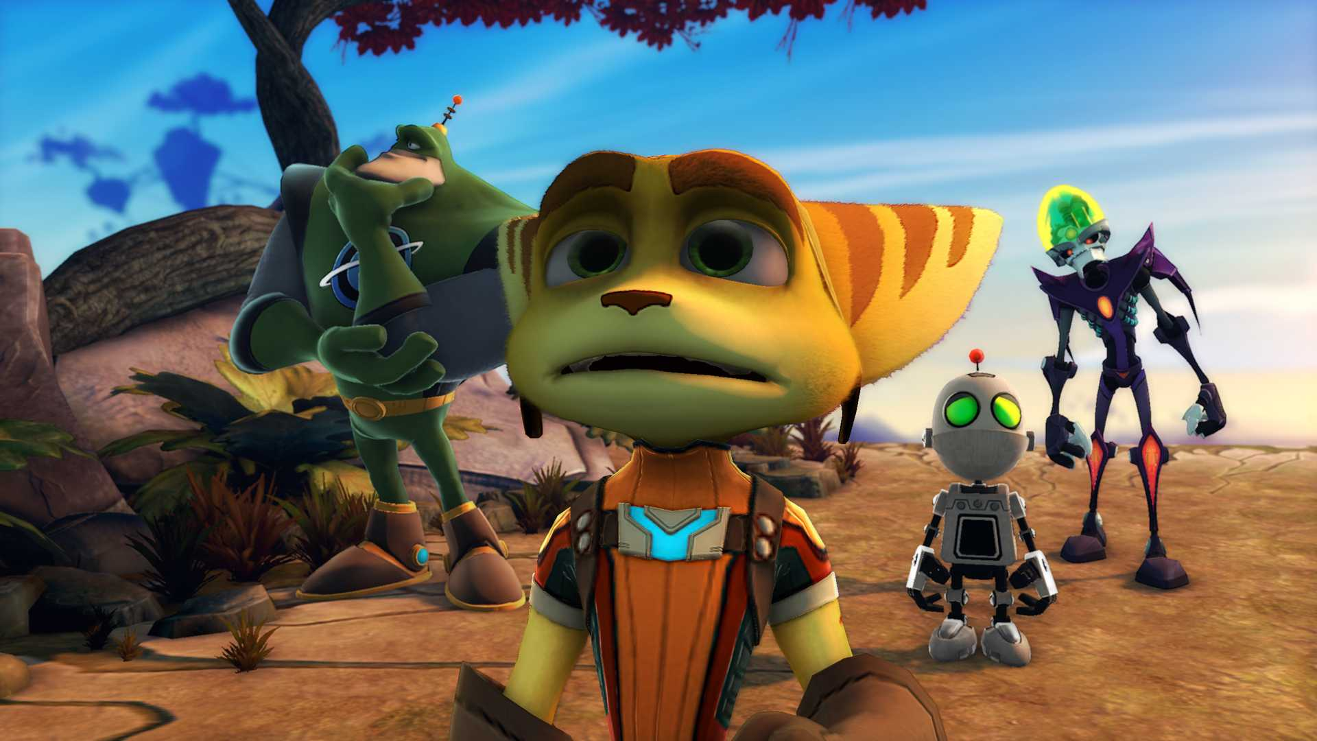 Ratchet and Clank all 4 one Looking sad