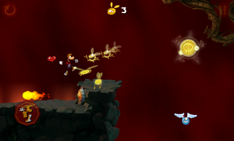 Rayman Jungle run Fireball