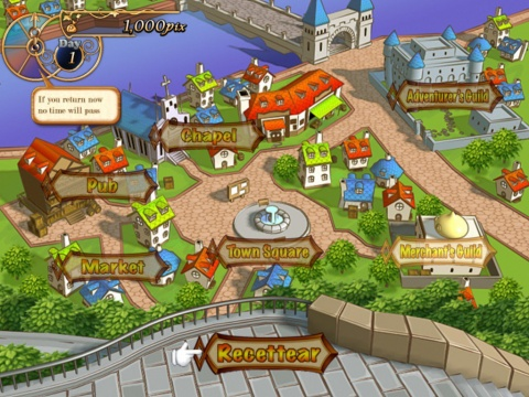Recettear Town map