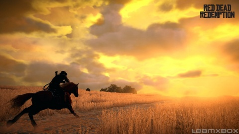 red Dead Redemption John Marston Horse Riding Sunset