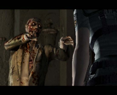 Resident Evil Jill and a Zombie
