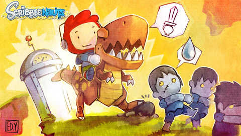 Scribblenauts Post 217 Raptor Zombies Time Machine