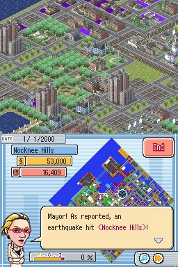 Simcity ds Earthquake
