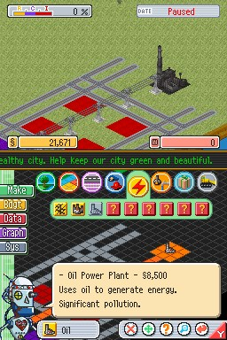 Simcity ds oil Power Plant