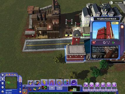 Simcity Societies Neighborhood Watch