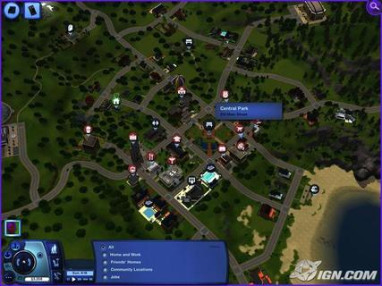 Sims 3 Town Map