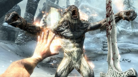 Skyrim Fire Spell Bigfoot