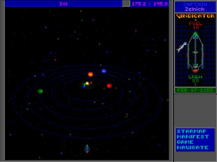 Star Control 2 Solar System View