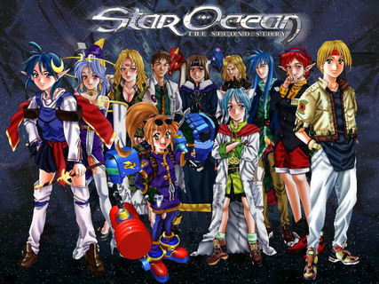 Star Ocean 2 Second Story Character Art