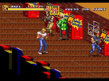Streets Of Rage 2 Axel Bare Knuckle Arcade