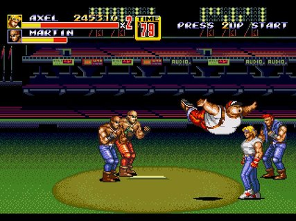 Streets Of Rage 2 Axel Bellyflop Sega Stadium