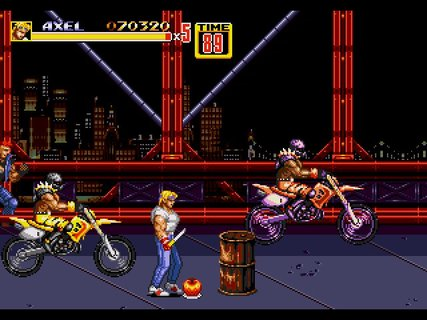 Streets Of Rage 2 Axel Bikers Knife