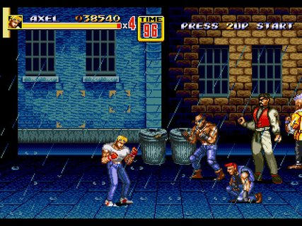 Streets Of Rage 2 Axel Rain Streets