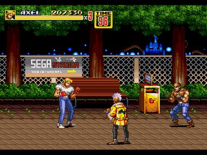Streets Of Rage 2 Axel Sega Stadium