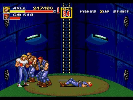 Streets Of Rage 2 Elevator Battle