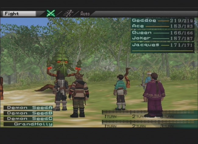 Suikoden 3 Battle Scene