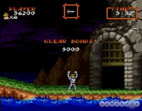 Super Ghouls n Ghosts Arthur win Bonus