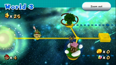 Super Mario Galaxy 2 map