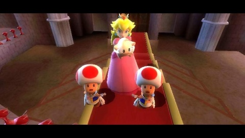 Super Mario Galaxy Peach Toad Shock
