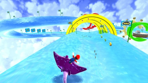 Super Mario Galaxy Water Stingray Surfing