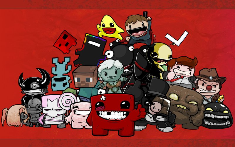 Super Meat boy Cast Minecraft Braid Bandage Girl
