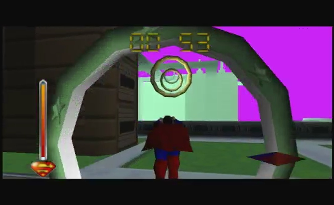 Superman 64 Flying Through Rings Stargates