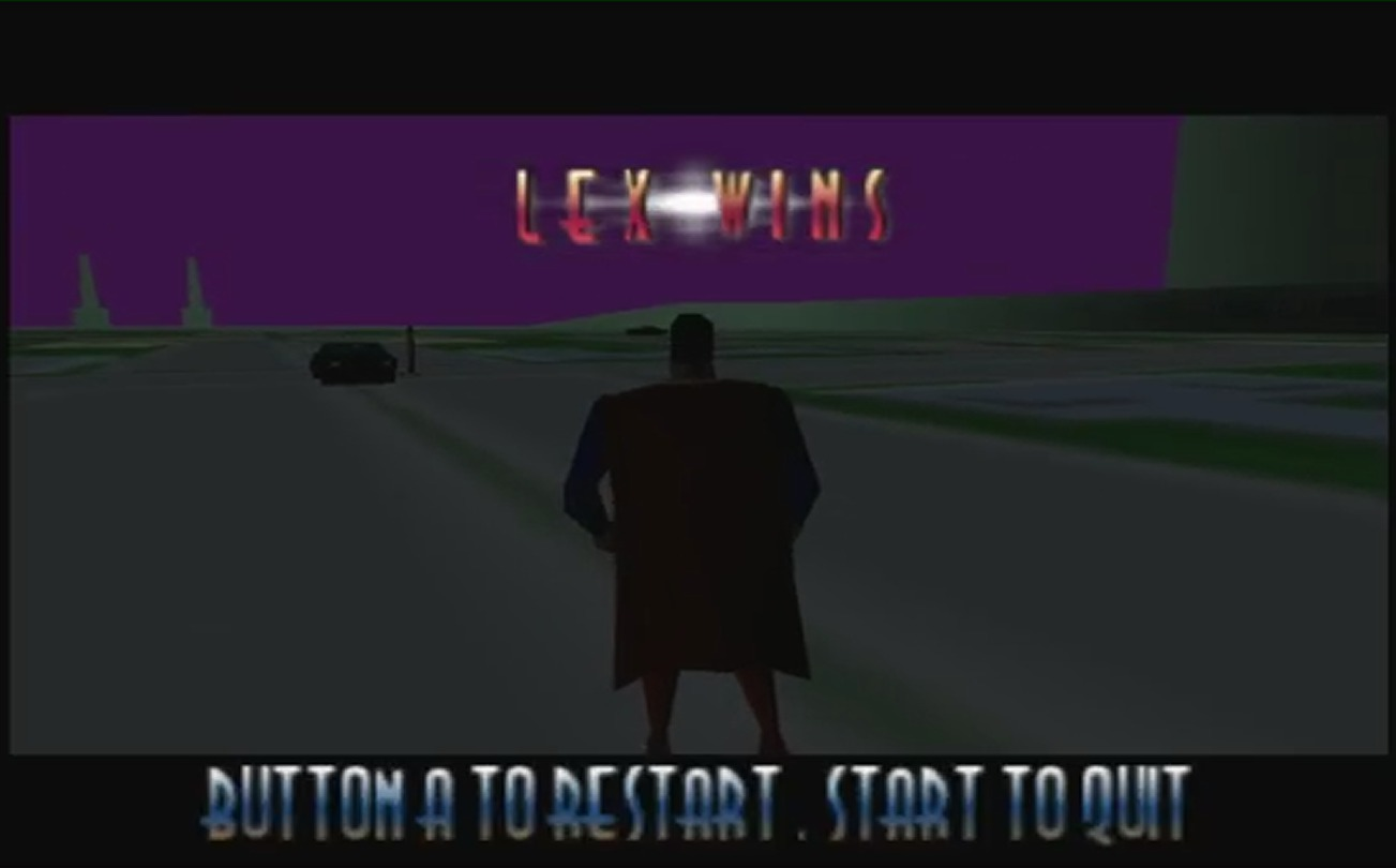 Superman 64 lex Luthor Wins Game Over