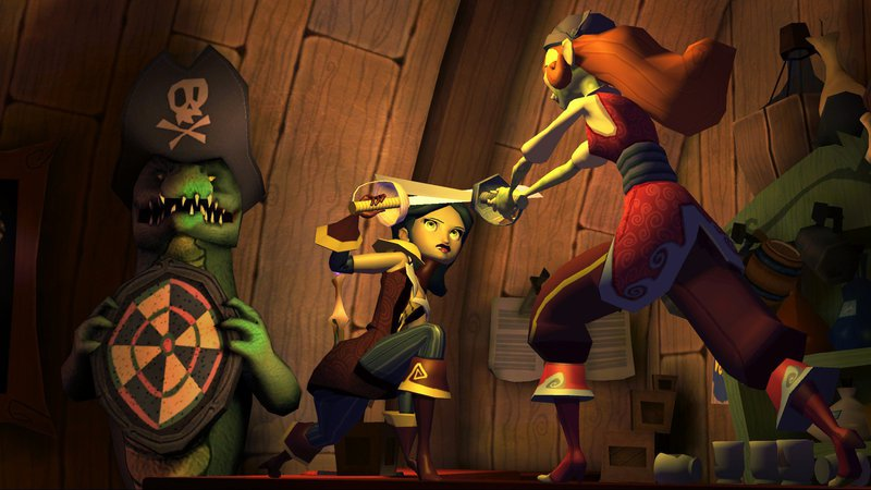 Tales of Monkey Island Elaine Morgan Leflay Swordfighting