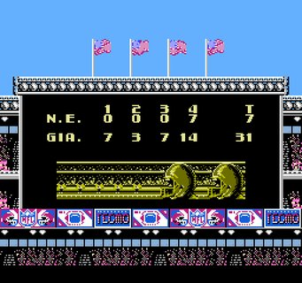 Tecmo Super Bowl 42 Xlii Final Score Patriots Giants