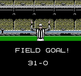 Tecmo Super Bowl Field Goal Made Referee