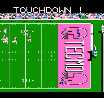 Tecmo Super Bowl Giants Touchdown