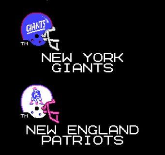 Tecmo Super Bowl Helmets Giants Patriots
