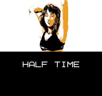 Tecmo Super Bowl Sports Bra Cheerleader Blow Kiss Half Time