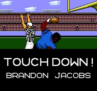 Tecmo Super Bowl Touchdown Brandon Jacobs