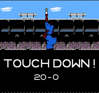 Tecmo Super Bowl Touchdown Celebration Two Players
