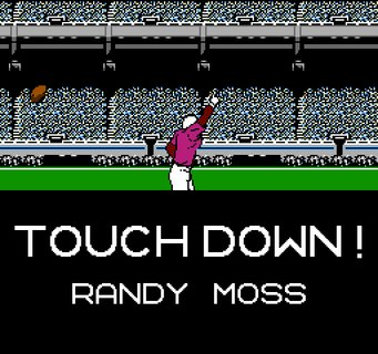 Tecmo Super Bowl Touchdown Randy Moss