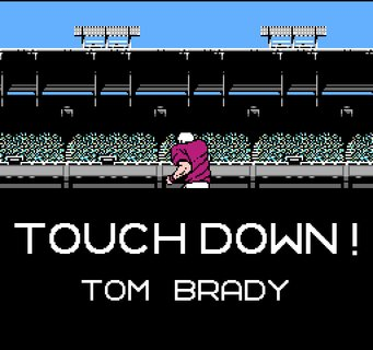 Tecmo Super Bowl Touchdown Tom Brady