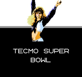 Tecmo Super Bowl Winking Cheerleader Logo